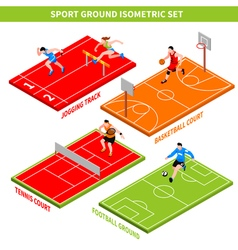 Sport Isometric Concept vector image vector image