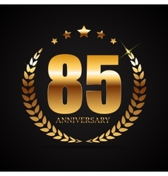 Template logo 85 years anniversary vector