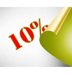 Ten percent discount coupon vector image