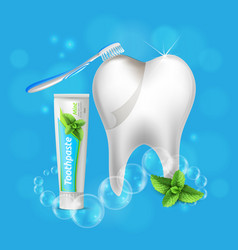 Tooth dental care realistic vector
