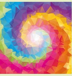 triangular tornado color background vector image