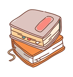 Two books are placed vector