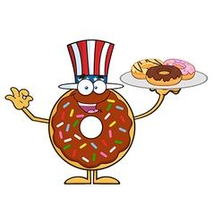 Uncle Sam Donut Cartoon vector