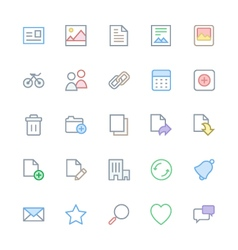 User Interface Colored Line Icons 1 vector image