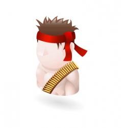 Warrior illustration vector