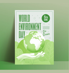 world environment day poster design template with vector image