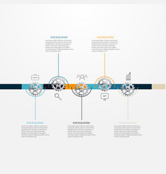 chronology of a business conceptinfographic vector image vector image