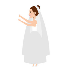 cute wife avatar character vector image vector image