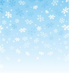 snowflakes and stars vector image vector image