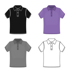 T-shirt icon of for web and vector