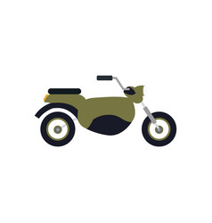 Vintage green motorcycle transport vector
