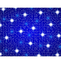 Christmas blue shiny background vector image vector image
