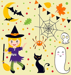 Halloween fun set vector image