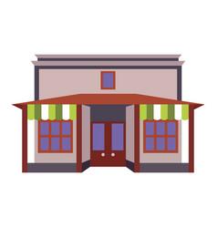 store shop front window building color icon vector image