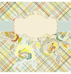 Vintage floral background eps 8 vector