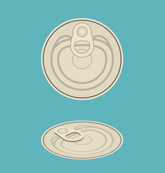 canned vector image