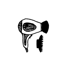 Retro handcrafted design element vector image