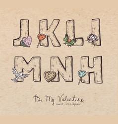valentine alphabet vector image