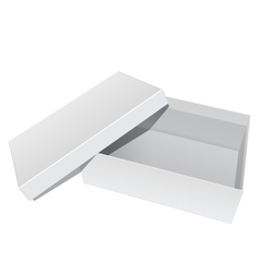 White blank Package Box Opened with the cover vector image