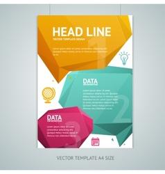abstract geometric bubble speech brochure vector image vector image