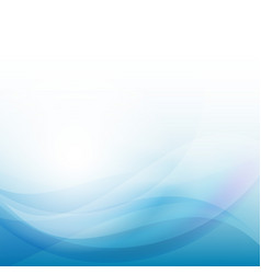 Blue wave business template vector