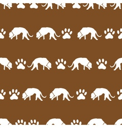 dog and footprints brown shadows silhouette in vector image vector image