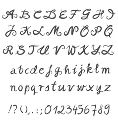 Hand drawn font set vector