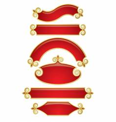 red-gold banners vector image