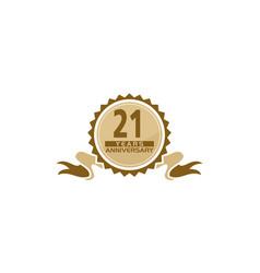21 years ribbon anniversary vector