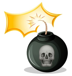 A rounded bomb vector image