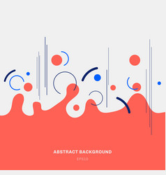 abstract composition red geometric splash circles vector image