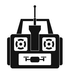 Aerial drone remote control icon simple style vector