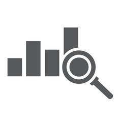 Analyse glyph icon business and strategy graph vector