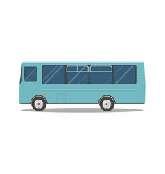 Aqua blue bus isolated on white background vector