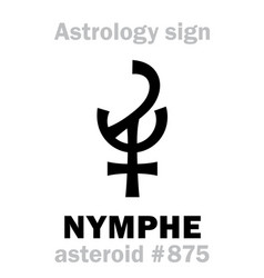 Astrology asteroid nymphe vector
