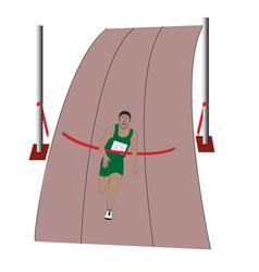athlete wins marathon flat vector image