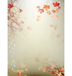 Autumnal Background with maple leaves EPS 10 vector image