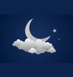background with evening sky moon and stars vector image