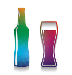 beer bottle sign colorful icon with vector image