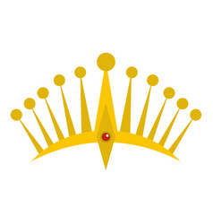 Big crown icon isolated vector