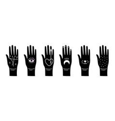 black magic hands vector image