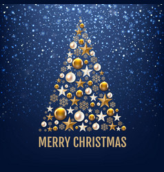blue glitter background with bokeh with christmas vector image