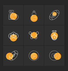 Bowling medal rugby pintrest dumbell sports vector