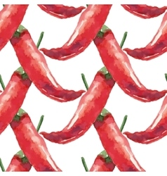 Chilli hand drawn watercolor painting on white vector