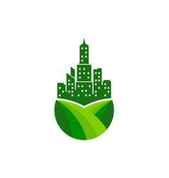 City farm logo icon design vector
