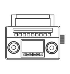Classic boom box icon vector