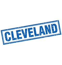 Cleveland blue square grunge stamp on white vector