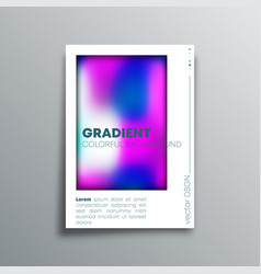 colorful gradient design cover for banner flyer vector image