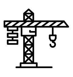Construction crane icon outline style vector