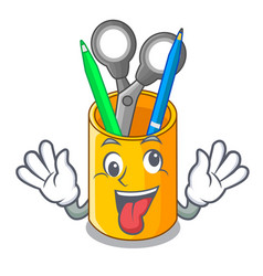 Crazy isometric supplies desktop on organizer vector
